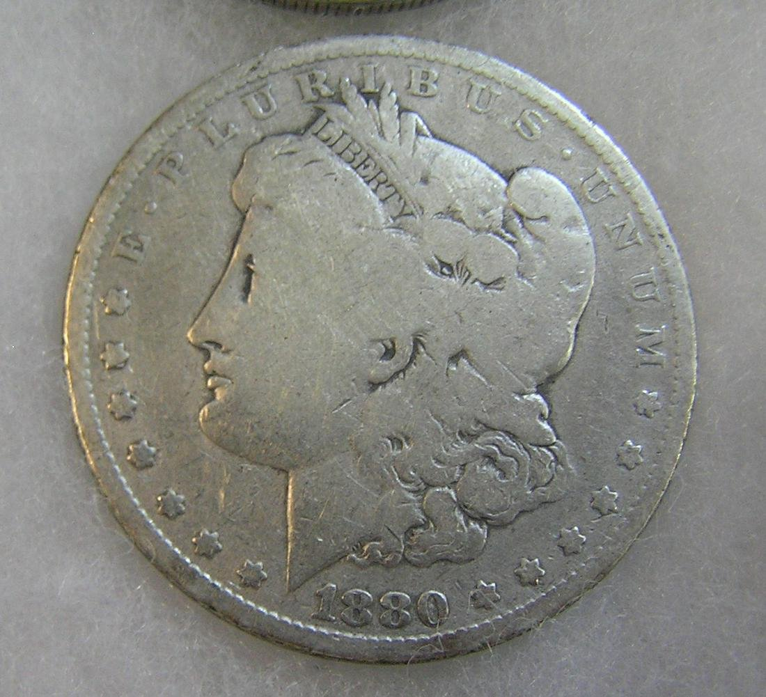1880 Morgan silver dollar in good condition