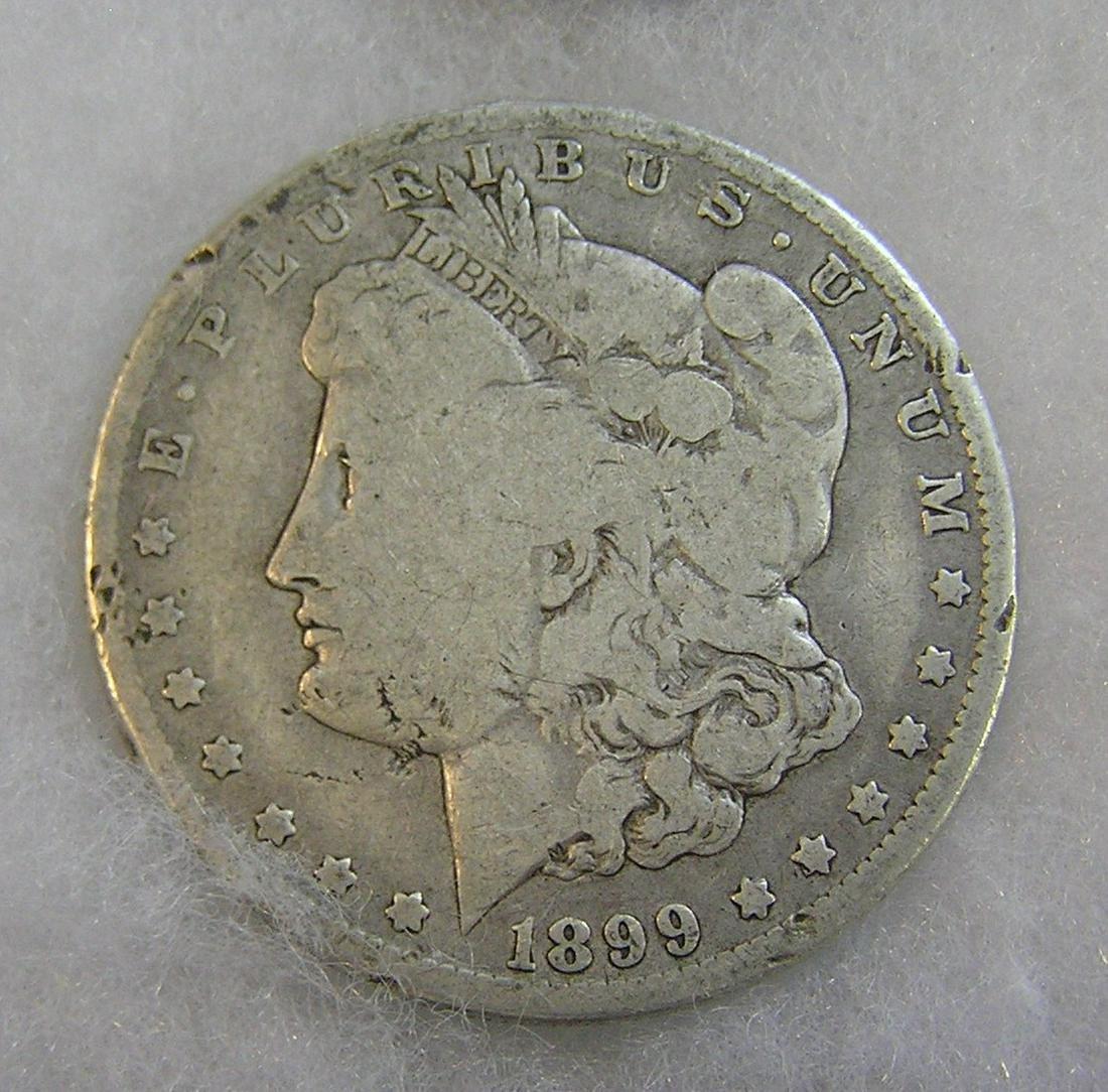 1899-O Morgan silver dollar in good condition