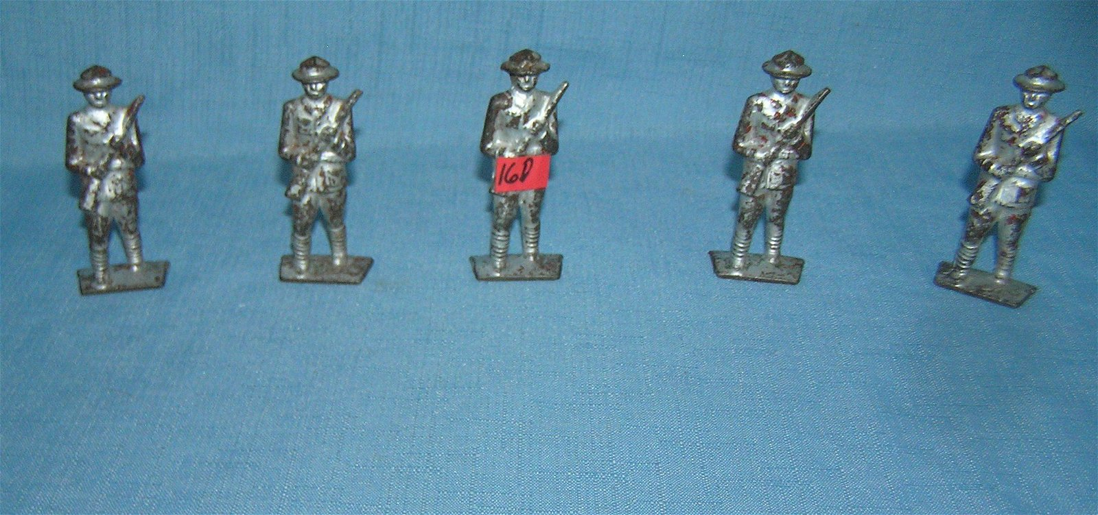 Group of Gray Iron cast iron toy soldiers