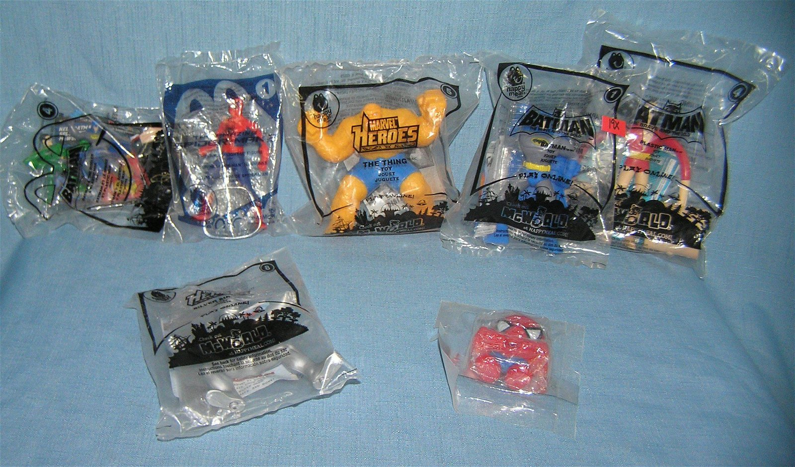 Group of Super hero action figures