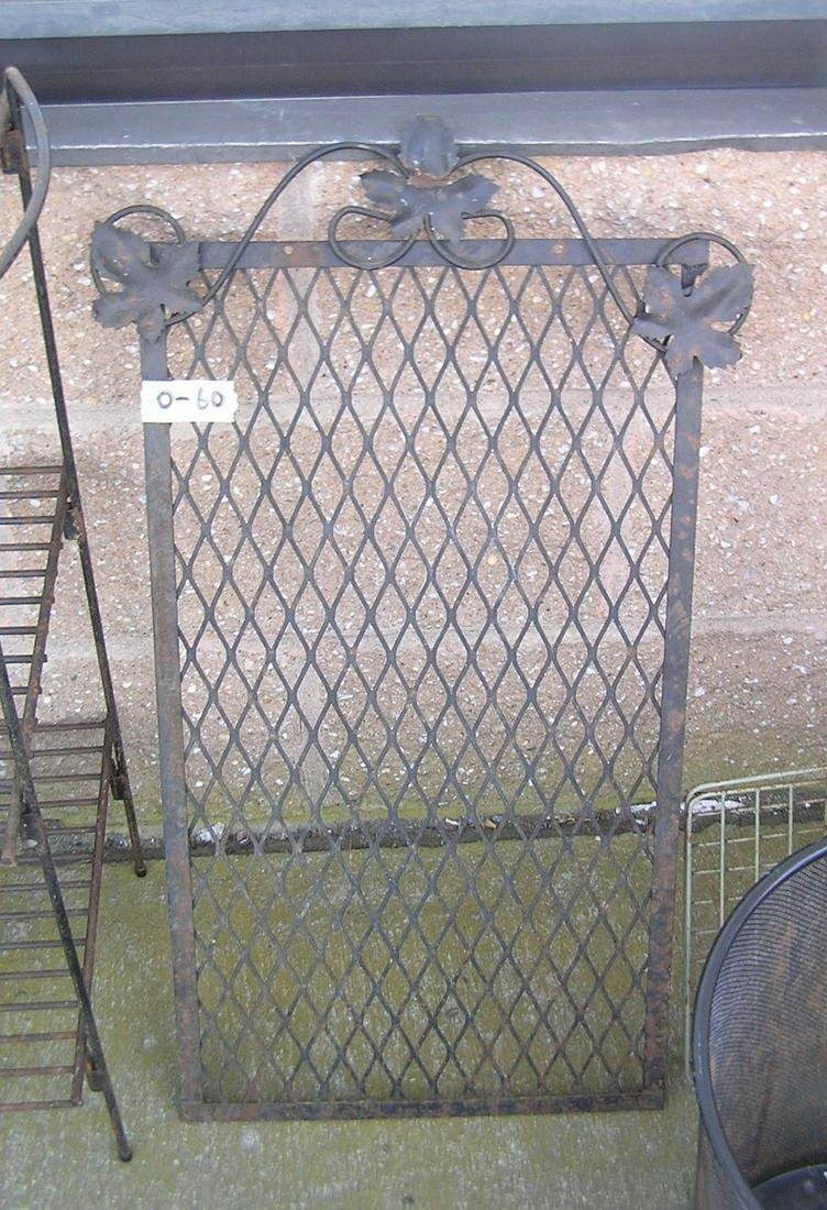 Wrought iron floral grill work
