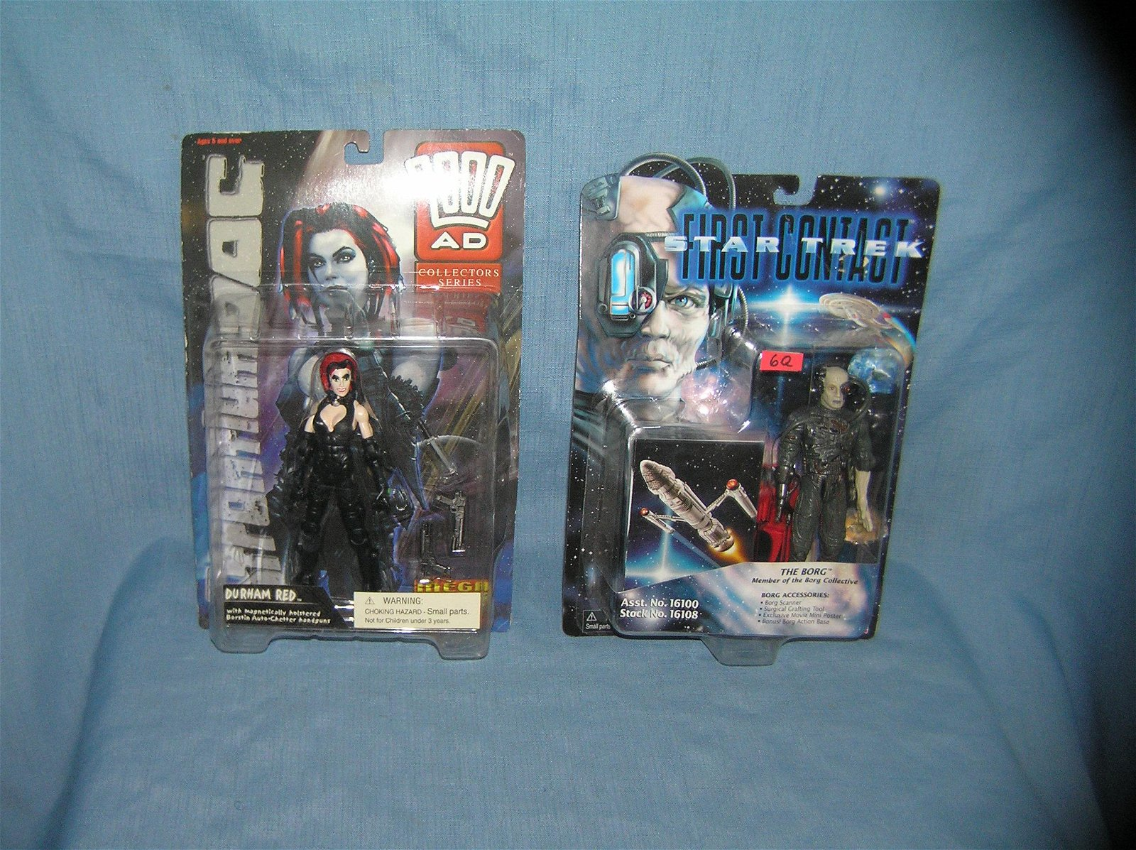 Vintage action figures, The Borg and Durham Red