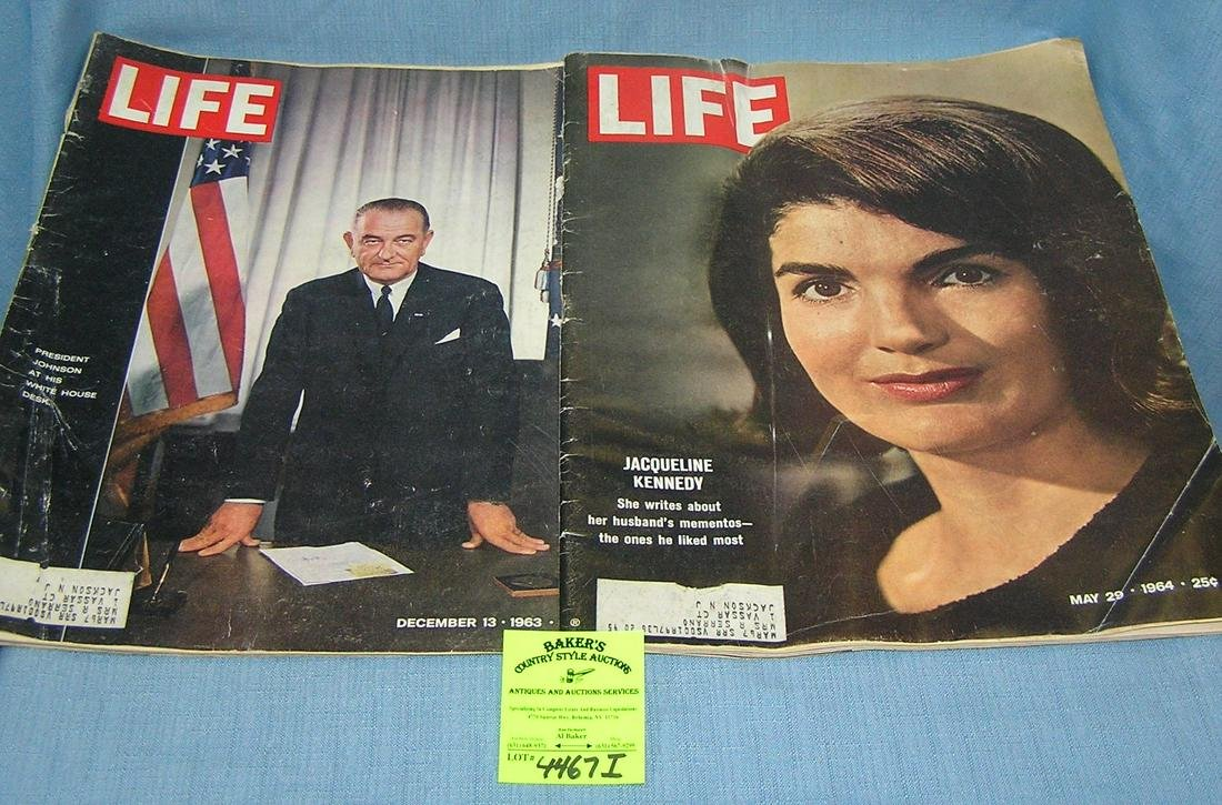 Pair of vintage LIFE magazines