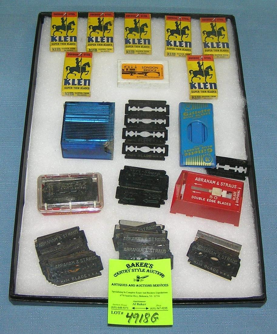 Vintage razor blades and accessories