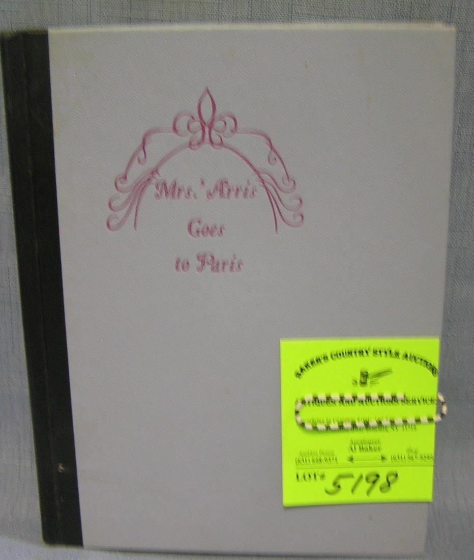 Mrs. Arris Goes to Paris vintage book