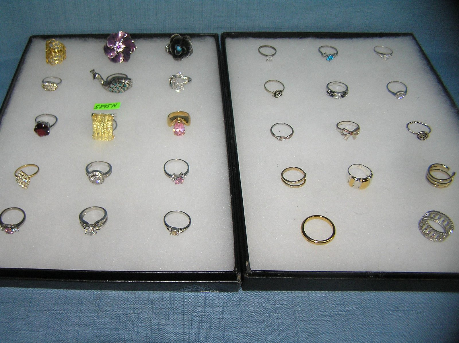 Large collection of costume jewelry rings