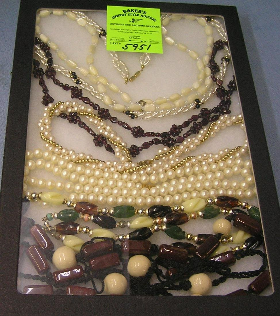 Collection of quality costume jewelry necklaces