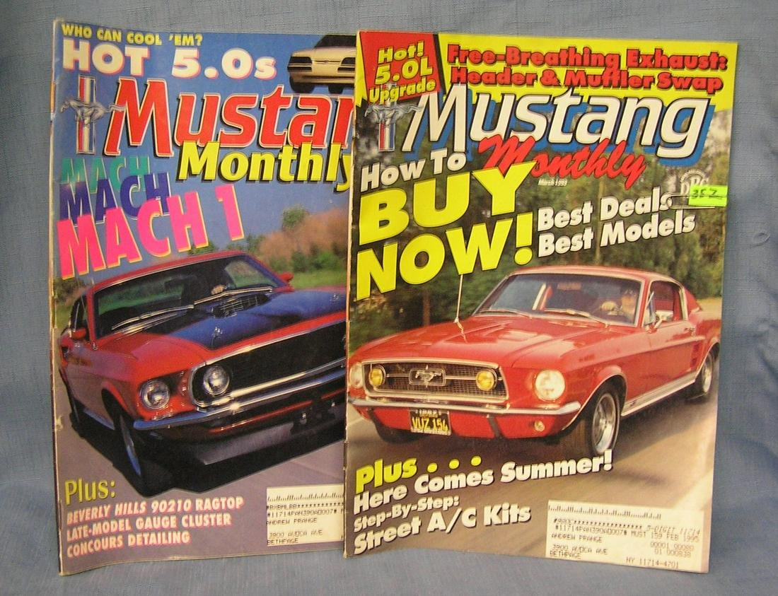 Pair of Vintage muscle car magazines