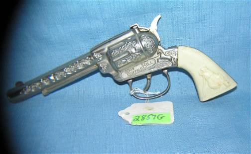 Vintage Buffalo Bill cast metal cap gun