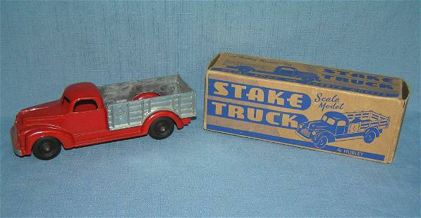 All cast metal Stake truck with original box