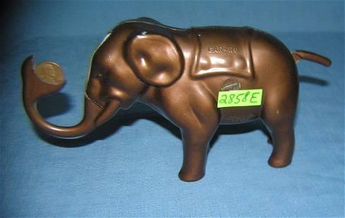 early cast metal gar ru mechanical elephant bank