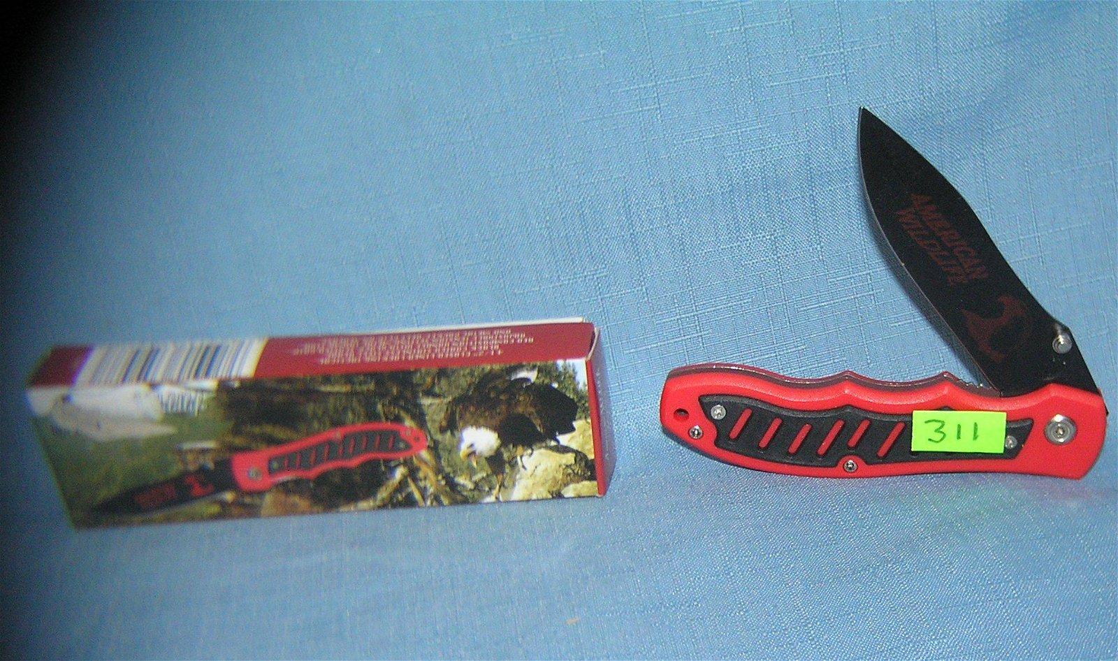 American wildlife pocket knife with original box