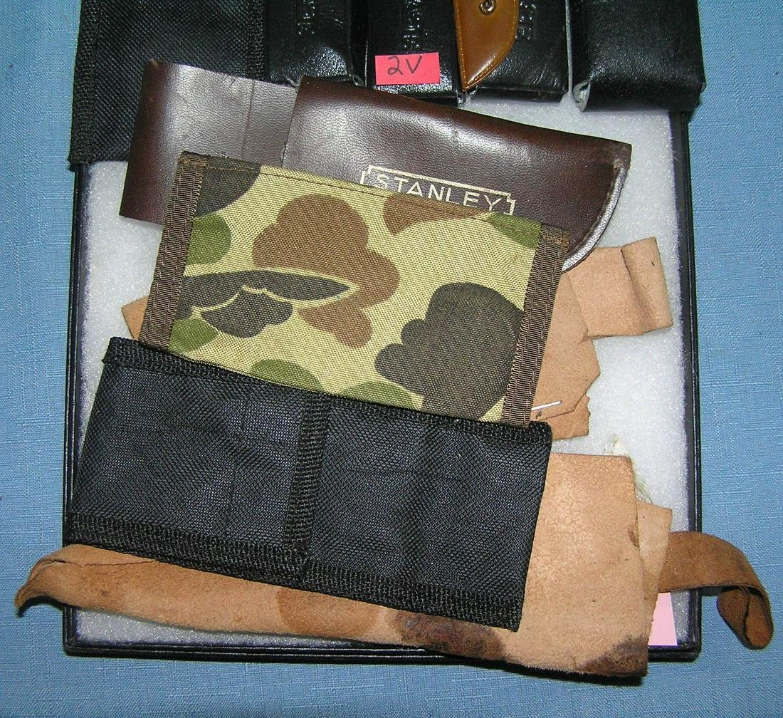 Group of knife cases and sheaths