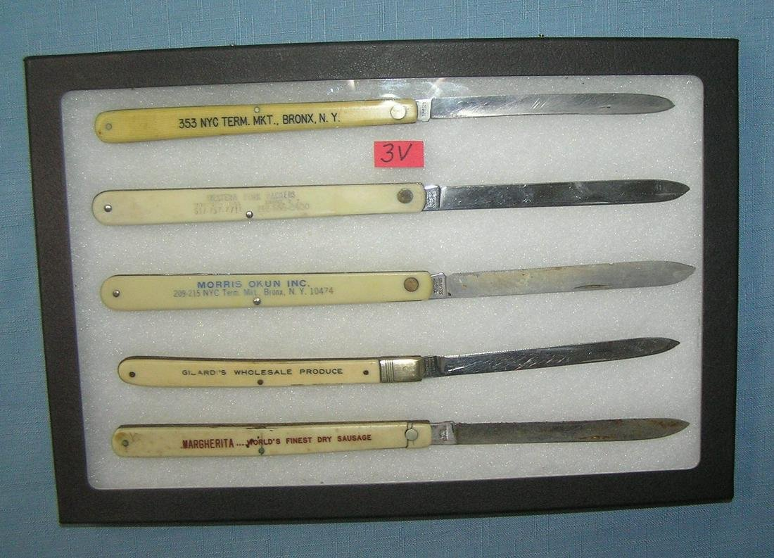 Collection of celluloid and stainless steel fruit