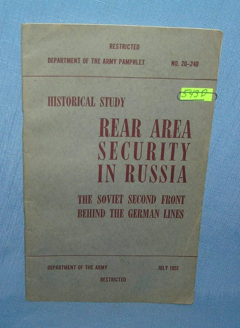 Rear area security in Russia