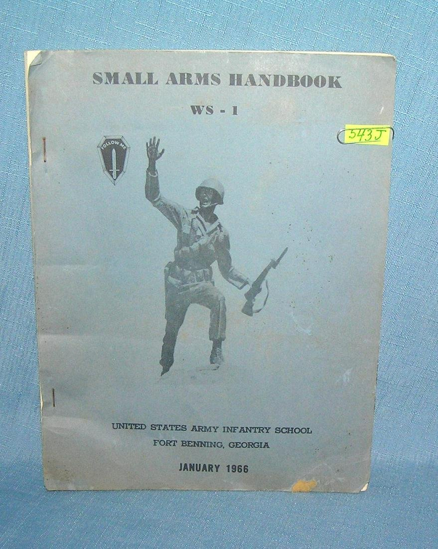 Small arms handbook US Army infantry school 1966