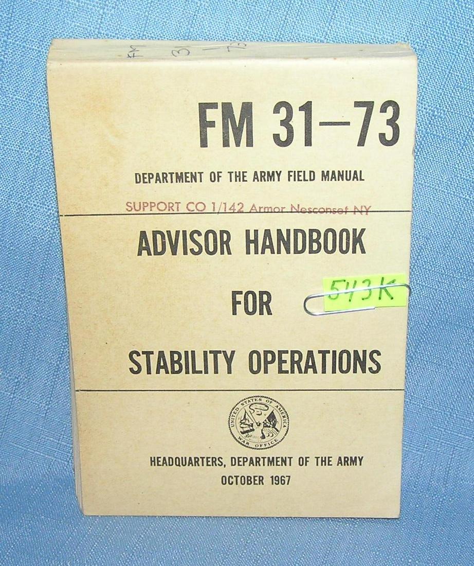 Advisor handbook for stability