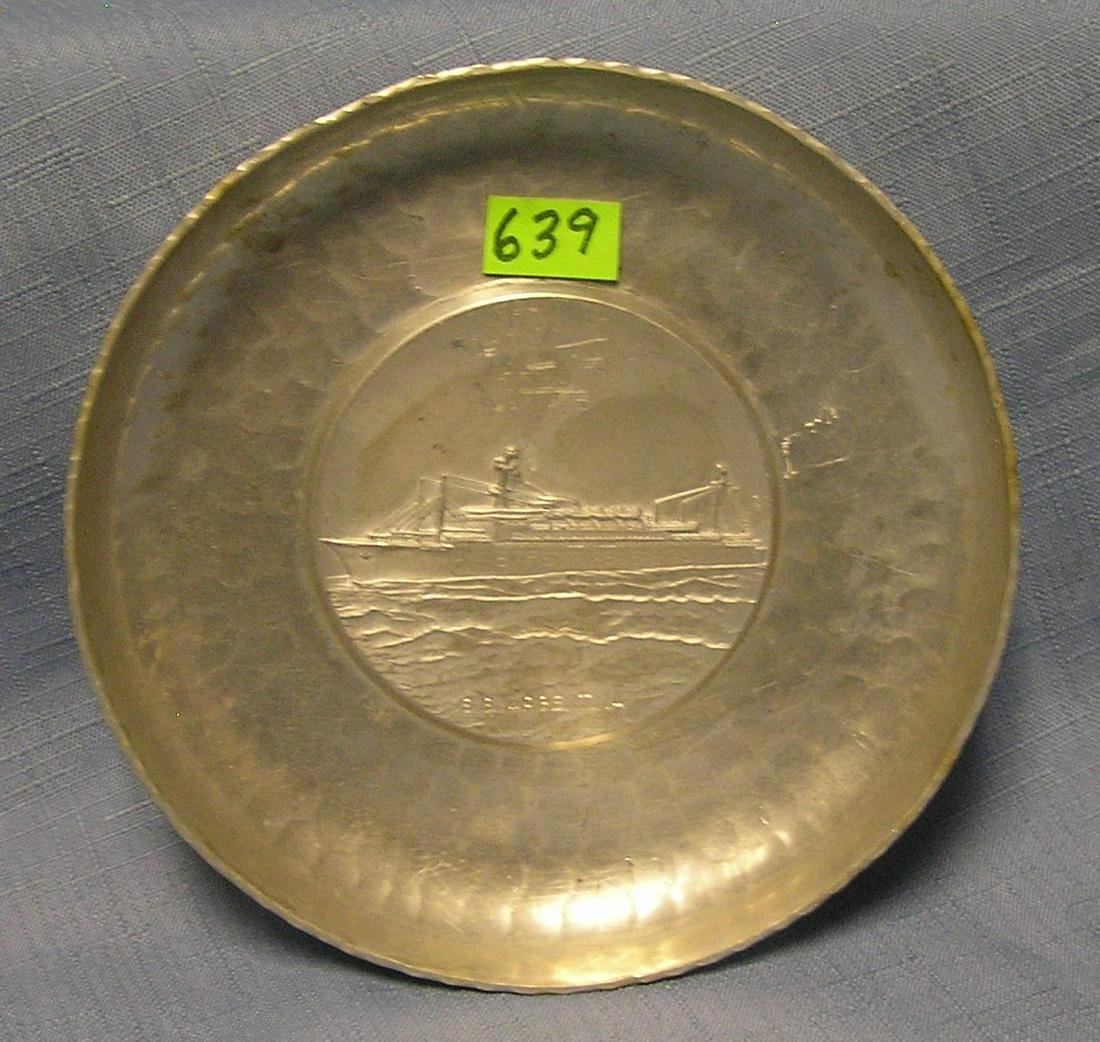Commemorative dish from the SS Argentina