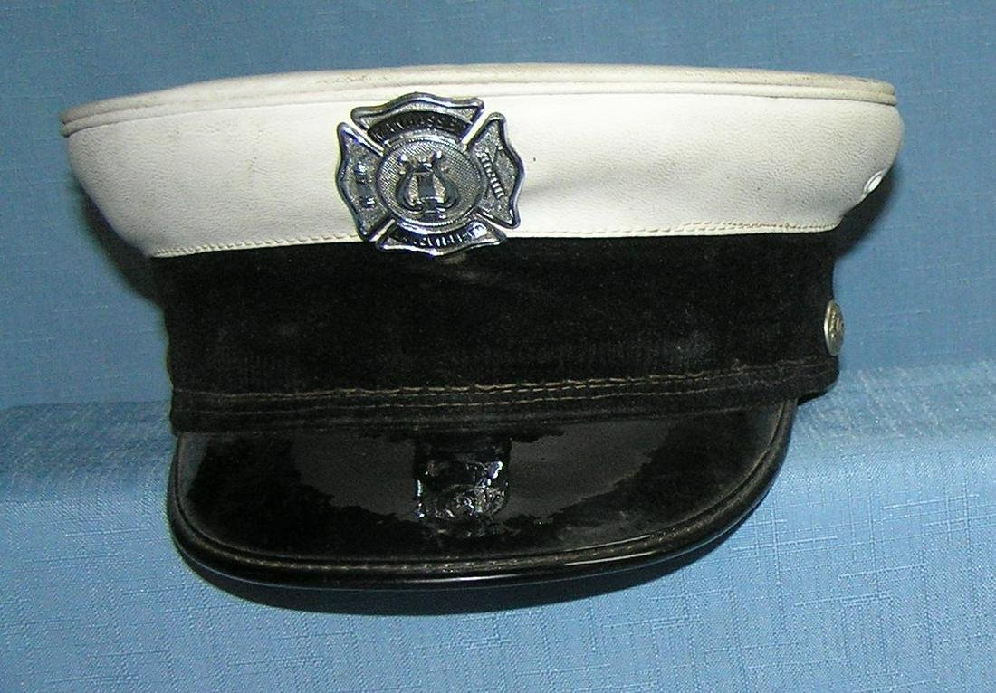 Long Island Fire Chief dress hat with badge