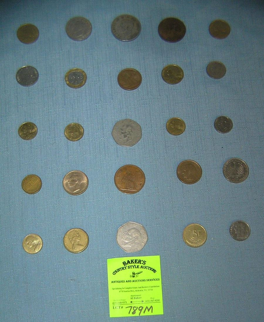 Large group of vintage world coins