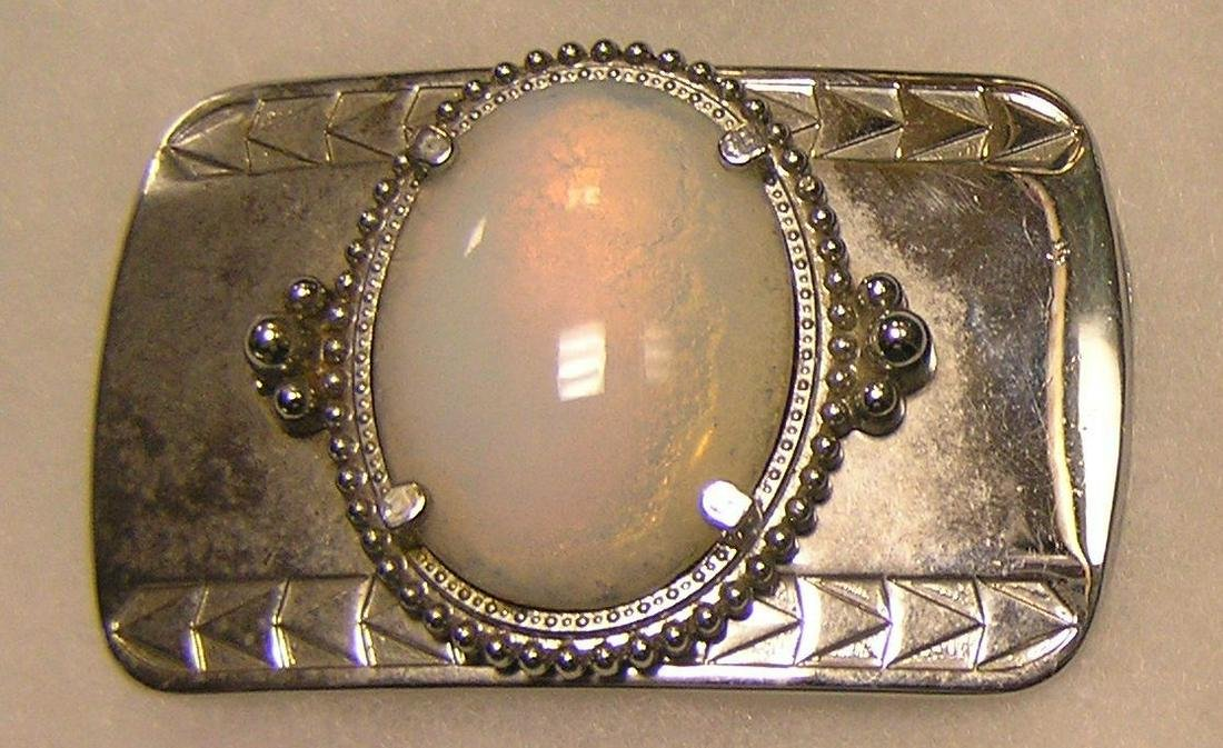 Large pearl shaped decorative belt buckle