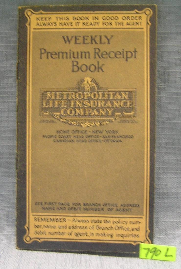 Metropolitan Life insurance co. premium booklet