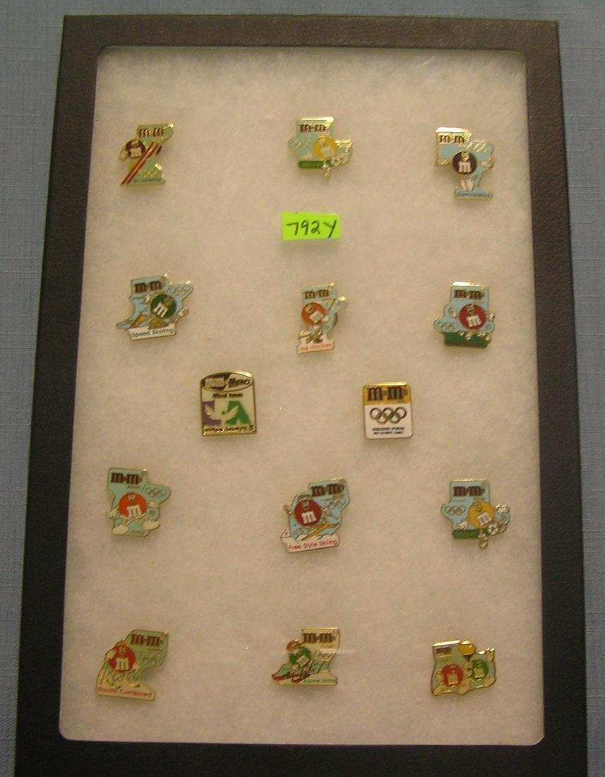 M&M's candy Olympic sponsor pins
