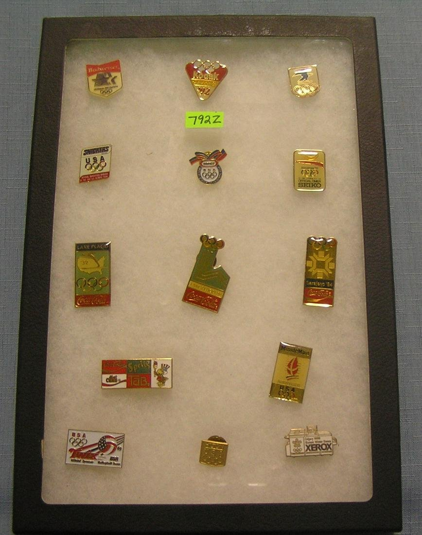 Collection of Olympic pins