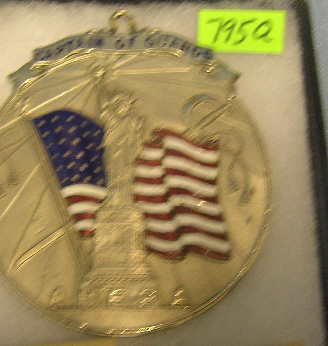 Large statue of Liberty medallion