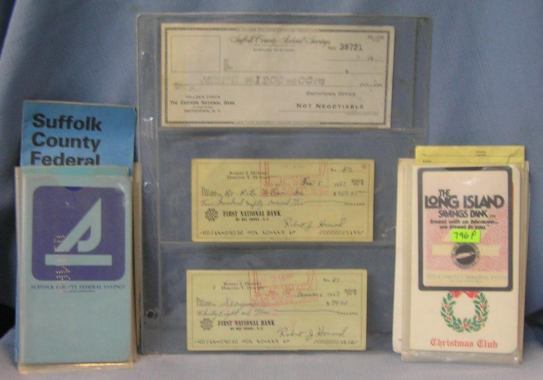 Group of early banking collectibles