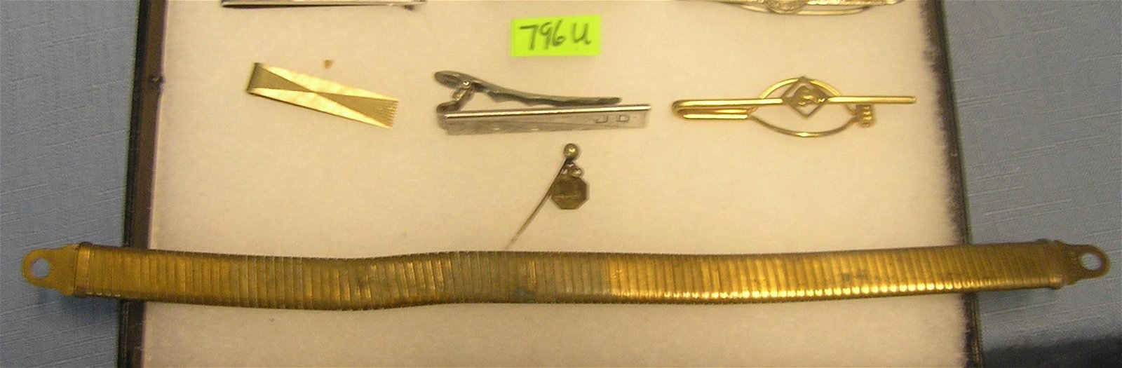 Group of vintage tie clasps