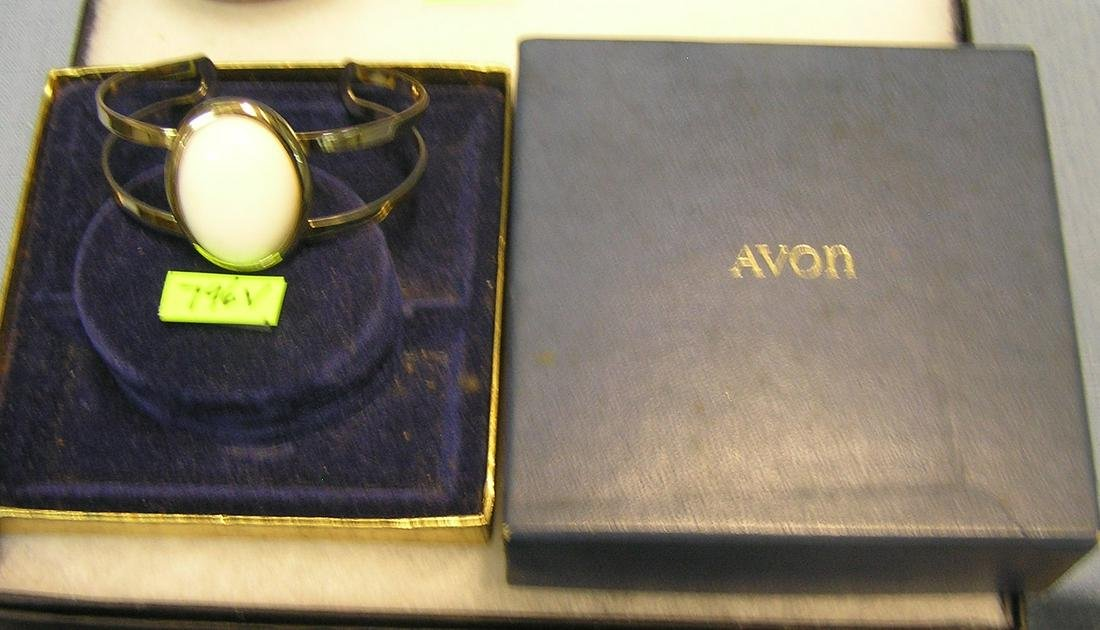 Avon brass and pearl shaped bracelet