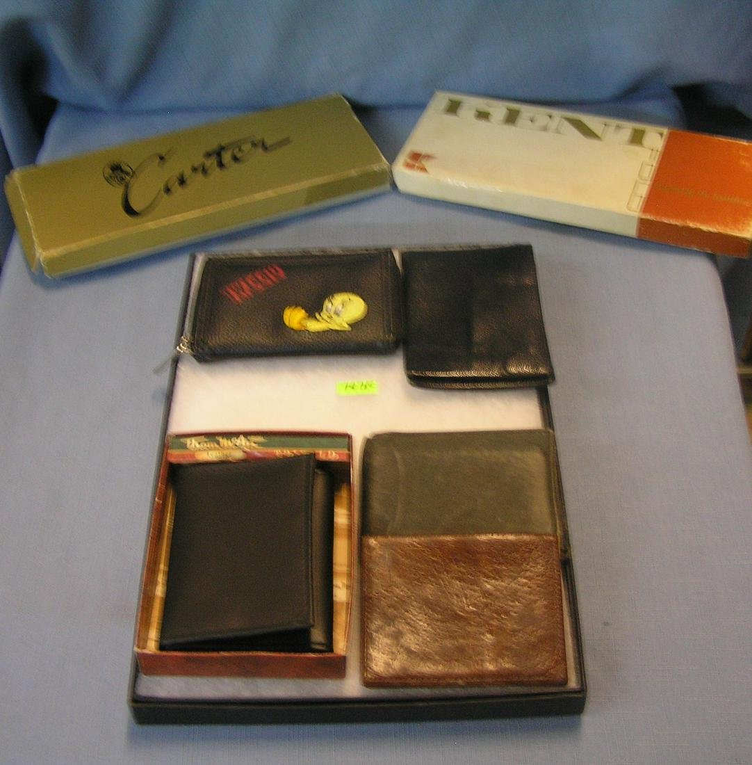 Group of vintage leather wallets