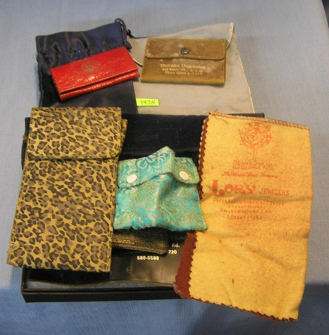 Vintage pouches, leather and key cases