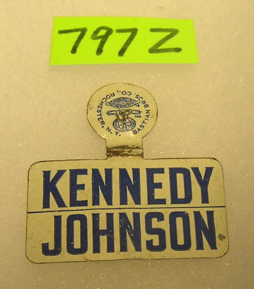 Vintage Kennedy/Johnson  tin campaign badge