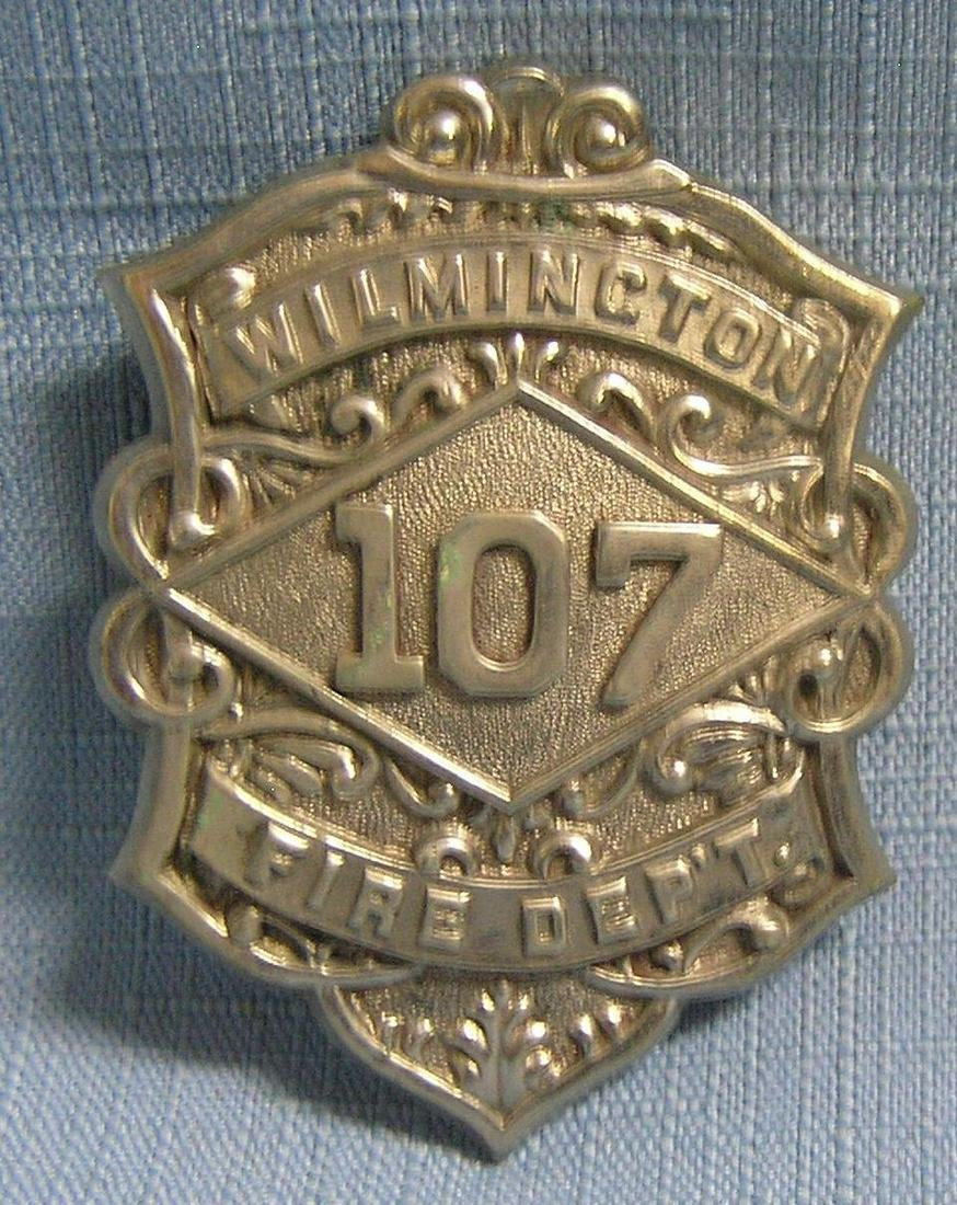Antique Wilmington fire dept badge