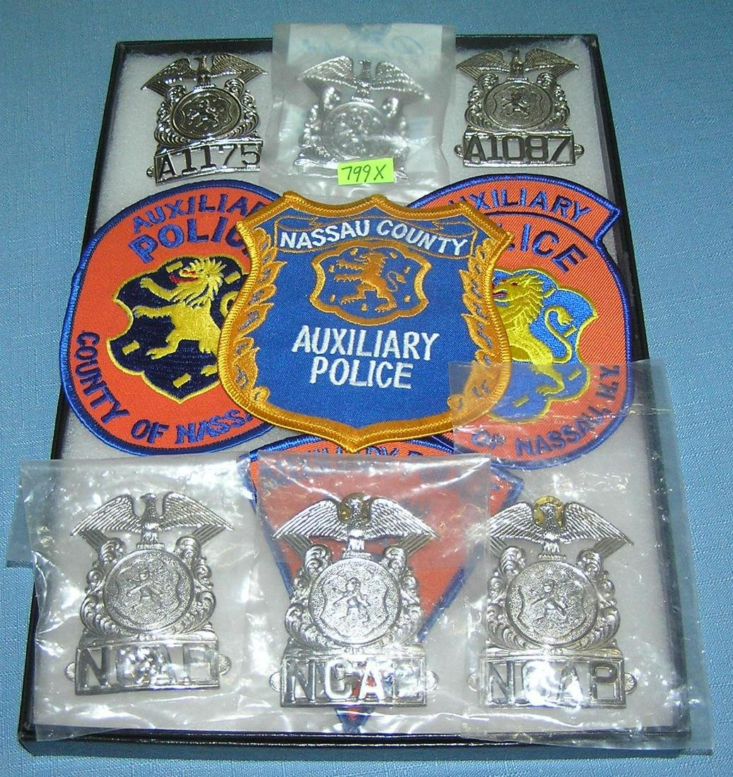 Vintage police badges and patches