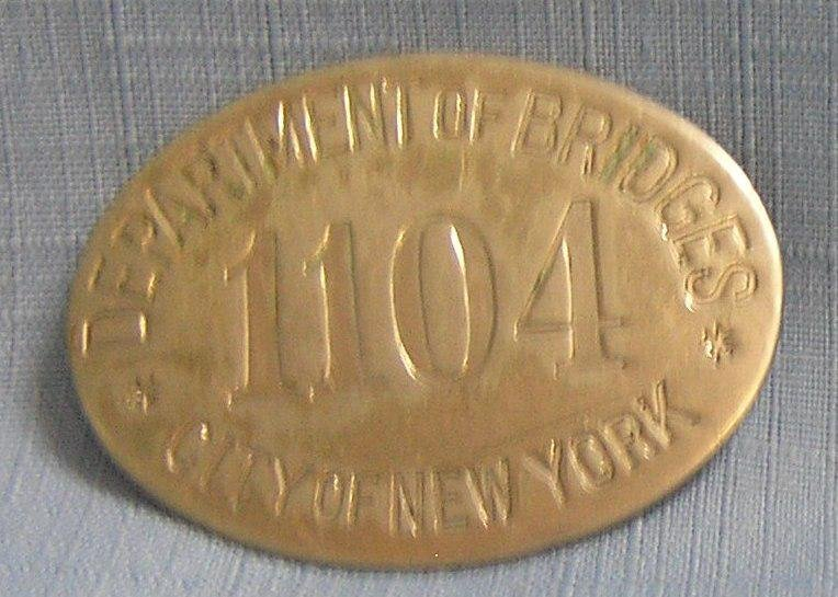 Early dept of bridges inspectors badge