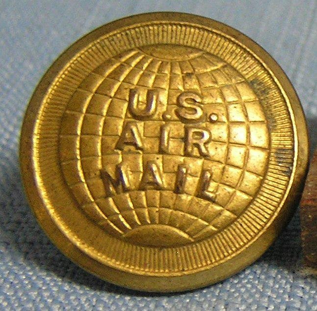 Early US airmail button