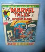 Vintage Marvel Tales comic book featuring Spiderman
