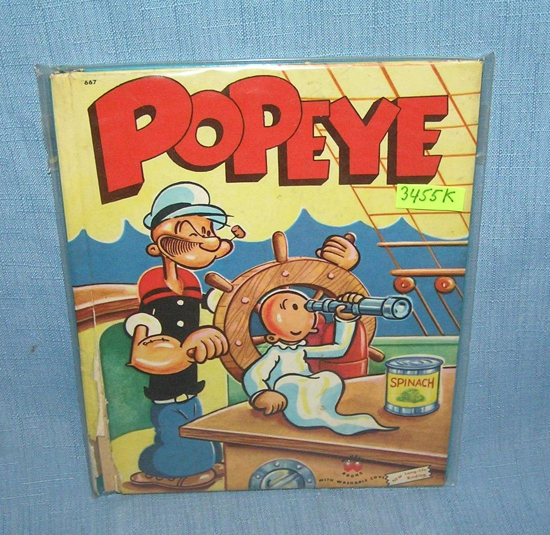 Vintage Popeye Wonder book 1955 first edition