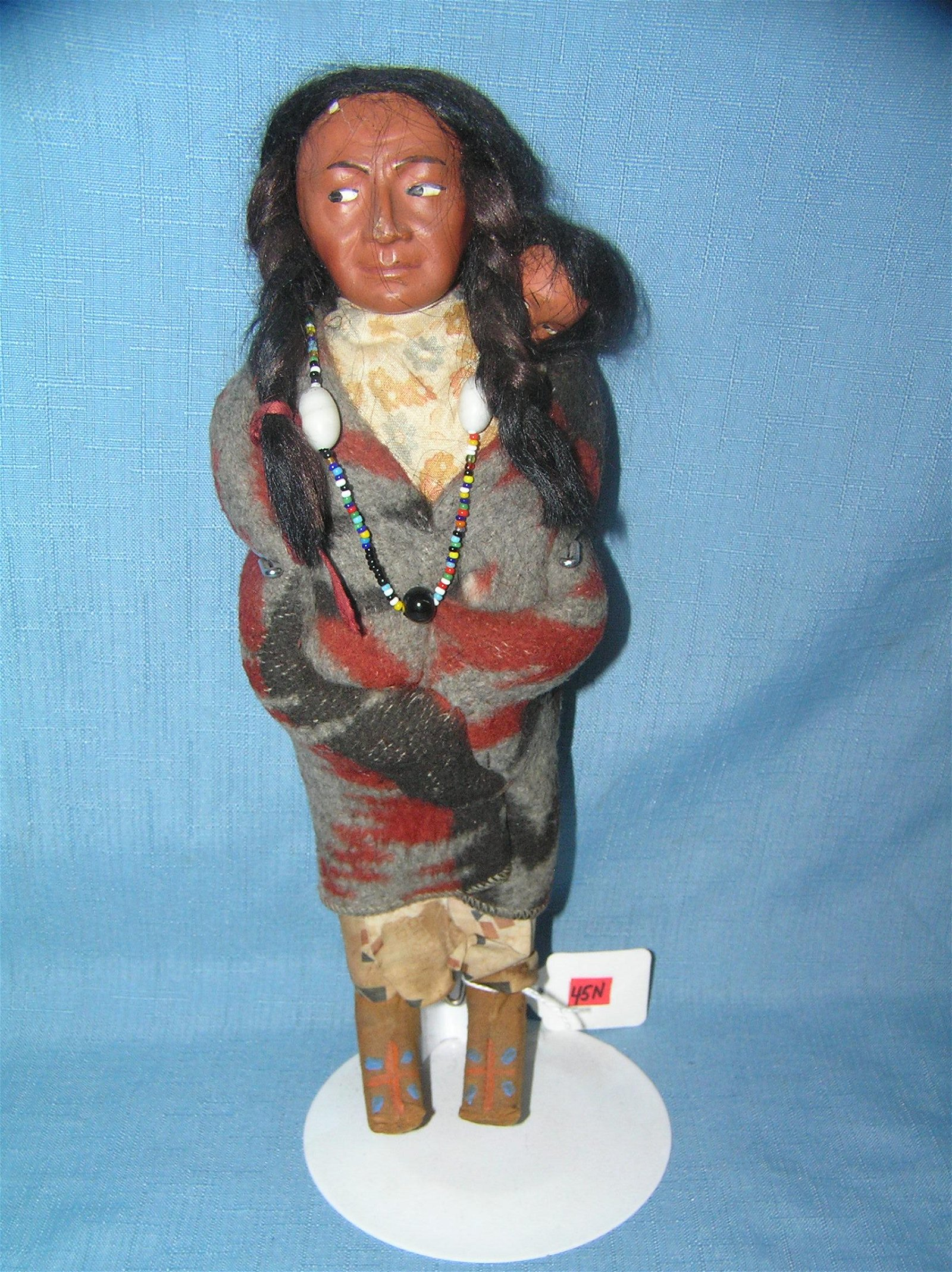Native American Indian Skookum 11 inch squaw doll