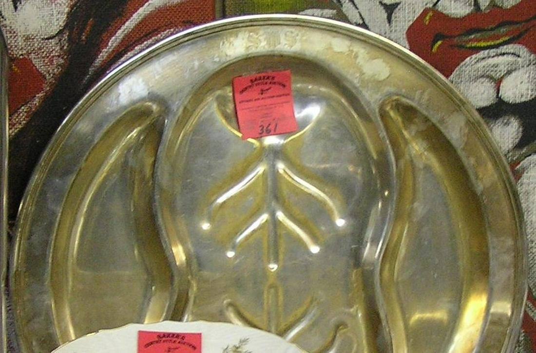 Large antique silver plated serving platter