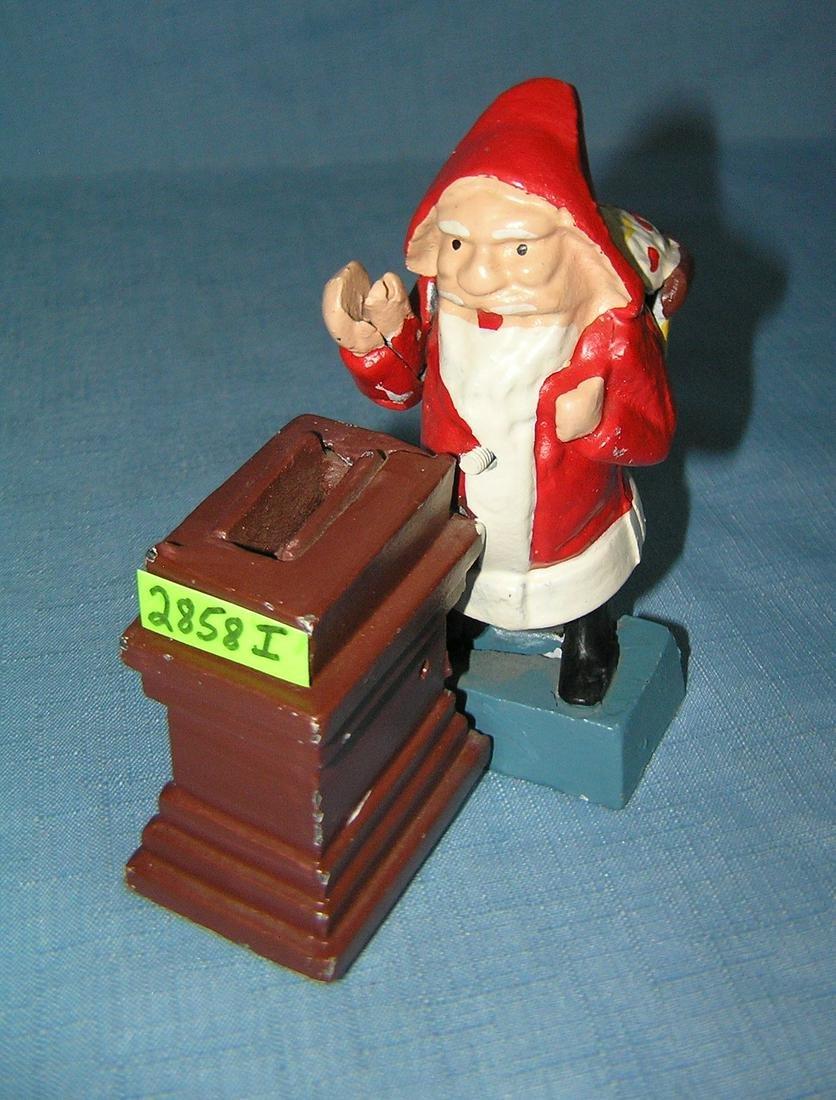Cast iron Santa Claus mechanical bank