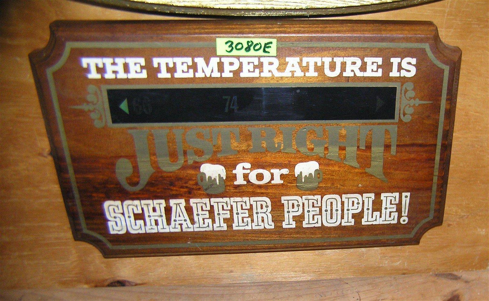 Schaefer Beer wooden advertising display piece