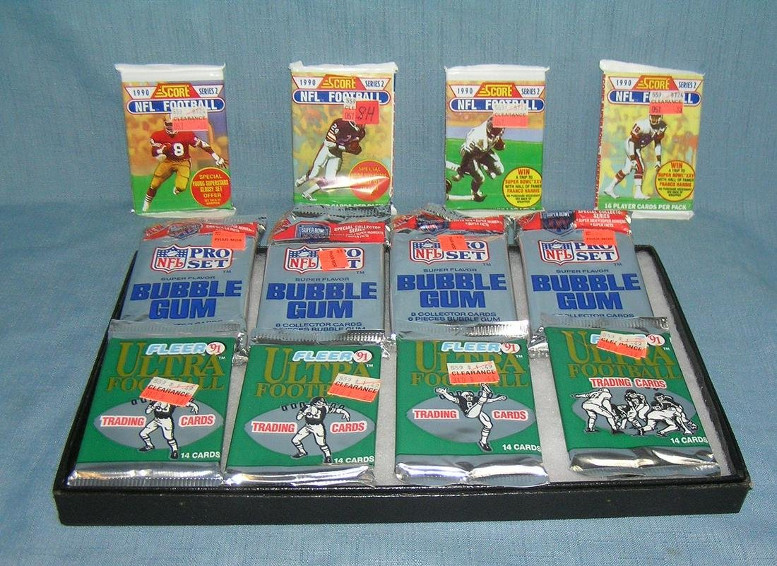 Collection of unopened football card packs