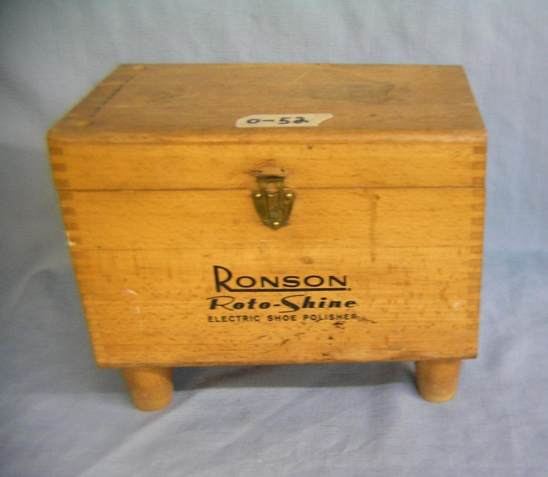 Antique Ronson shoe shine box