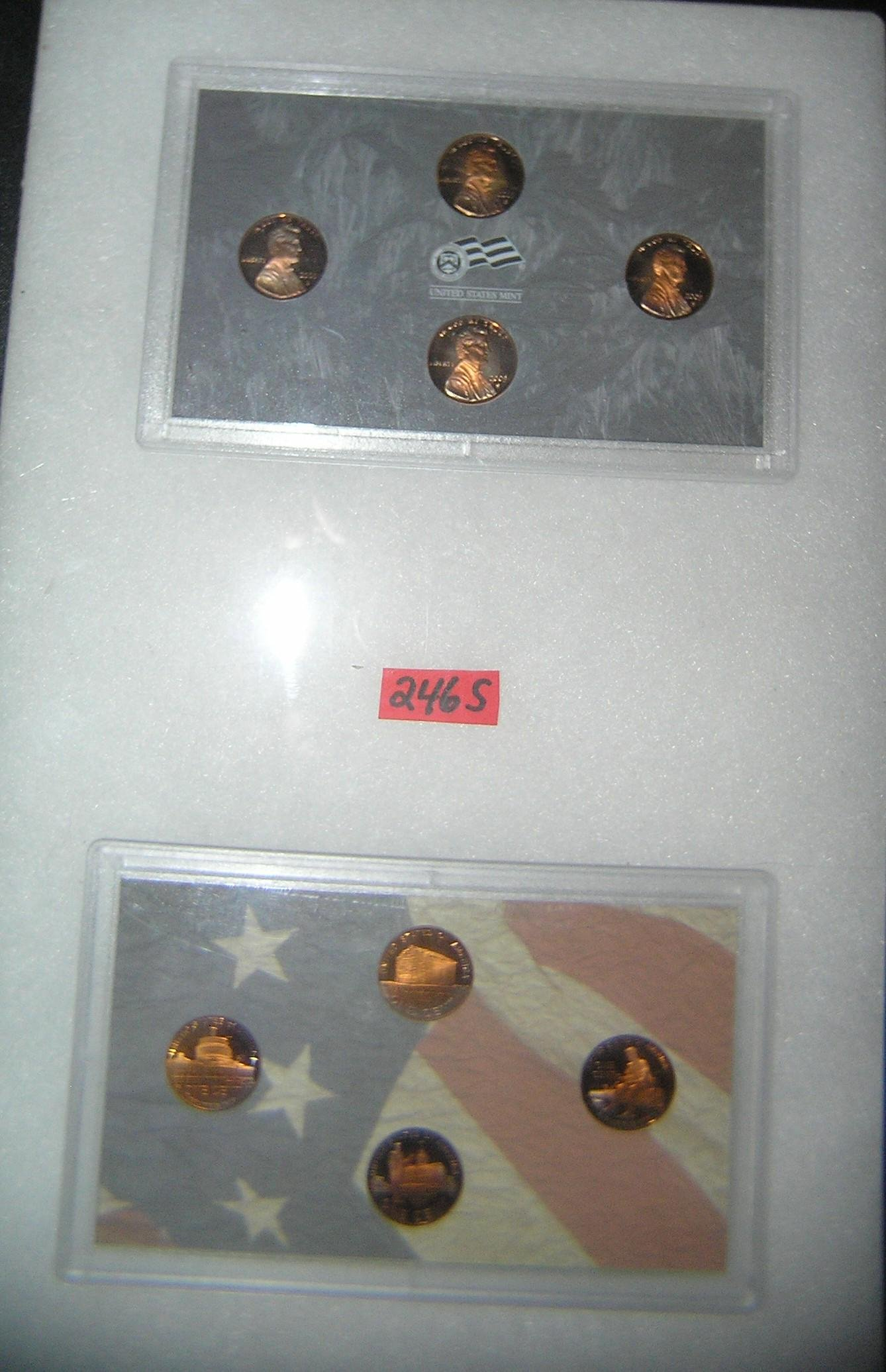 Pair of US mint sets featuring Lincoln pennies