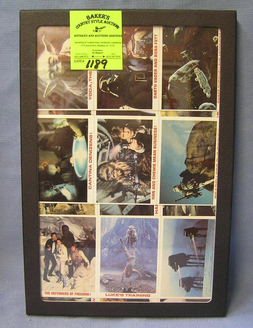 Complete set of 36 early Star Wars cards