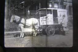 Borden Milk horse drawn wagon glass slide